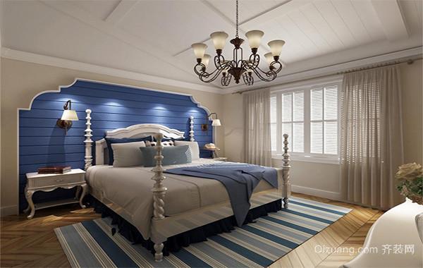 别墅型地中海风格卧室背景墙装修效果图欣赏
