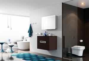 欧式风格三居室卫生间背景墙装修效果图