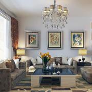 80平米经典的简欧客厅室内装修效果图实例
