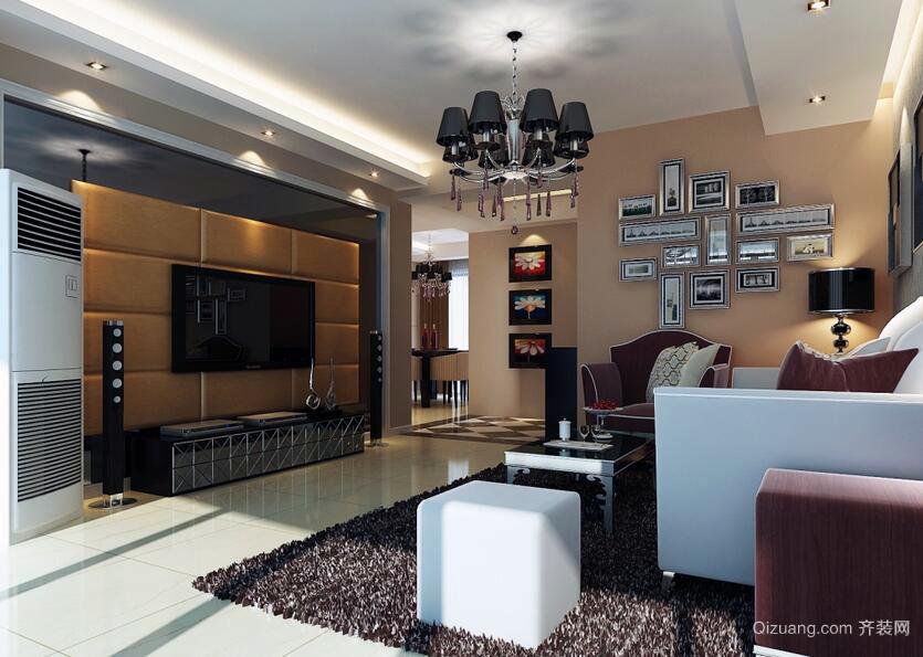 小资家庭小户型欧式风格客厅装修效果图