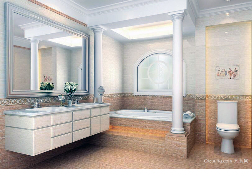 100平米动人心弦的欧式卫生间装修效果图欣赏