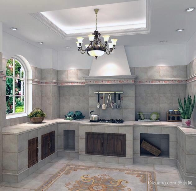 2016尊贵典雅欧式风格厨房装修效果图鉴赏
