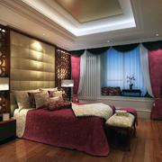 2016现代大户型家庭简单卧室装修效果图