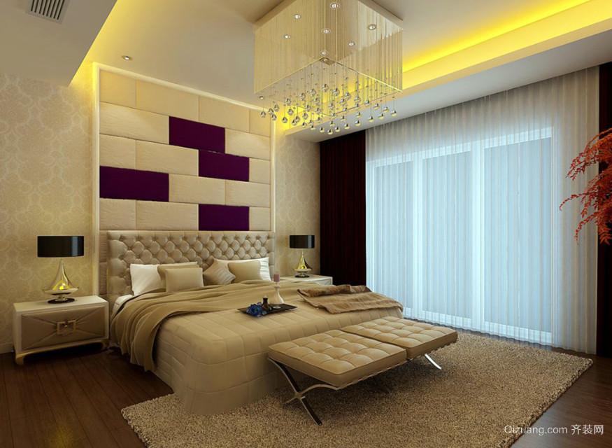 三居室时尚混搭卧室装修效果图