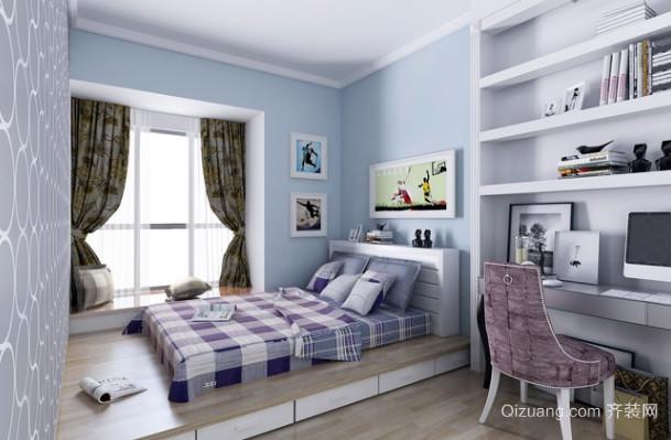 时尚简约三居室风格卧室装修效果图