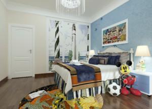 美式童话温馨儿童房装修效果图