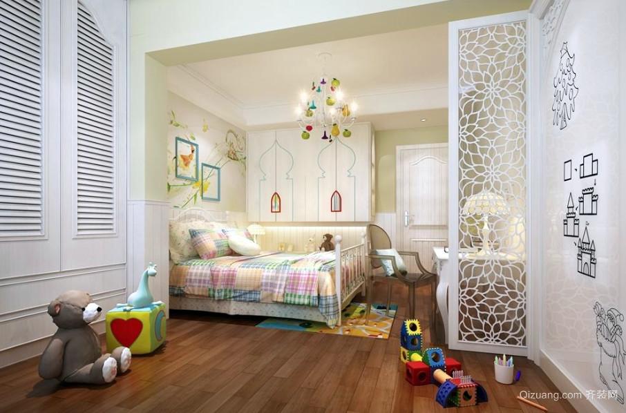 110平米时尚简约儿童房装修效果图实例