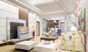 2016年时尚清新明亮客厅装修效果图