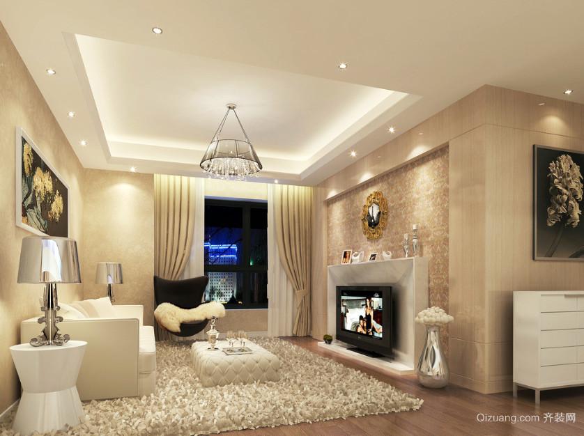 宜家三居室客厅背景墙装修效果图