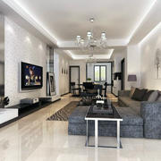 100平米唯美的简约客厅装修效果图鉴赏