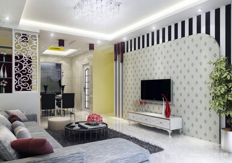 2016小资别墅型家装电视背景墙装修效果图