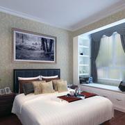 色调温和的欧式小户型飘窗装修设计效果图