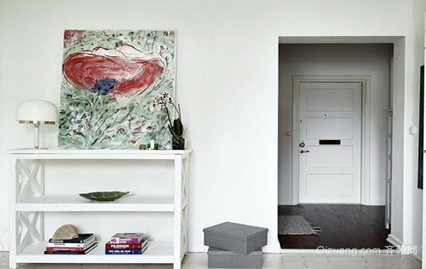 欧式风格别墅型进门玄关鞋柜装修效果图实例