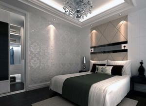 120平米大户型房子欧式卧室背景墙装修效果图