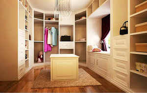 80平米小户型欧式风格家庭室内衣帽间装修效果图