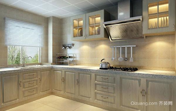 现代简约时尚混搭三居室厨房装修效果图