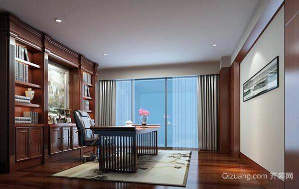 现代风格经典的大户型书房吊顶装修效果图