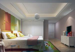 欧式风格别墅型儿童房吊顶装修效果图