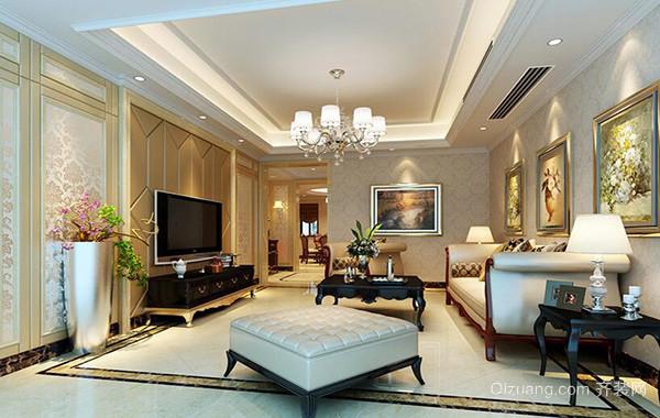 大户型欧式家装客厅电视背景墙装修效果图