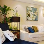 自然风格客厅背景图