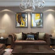 时尚华丽客厅吊灯装修图