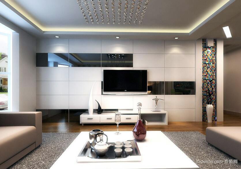 2016小户型现代风格室内背景墙装修效果图