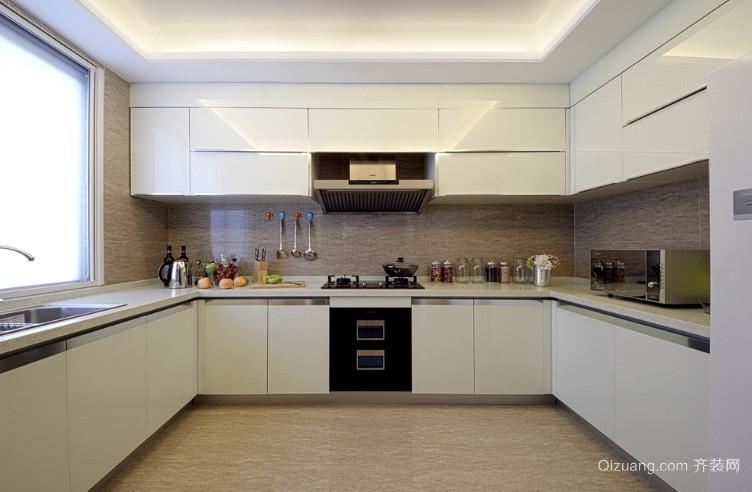 大户型简欧典雅厨房装修效果图