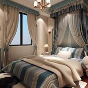 2016年新款地中海简约风格卧室装修效果图