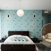 简约时尚温馨卧室背景墙装修效果图实例