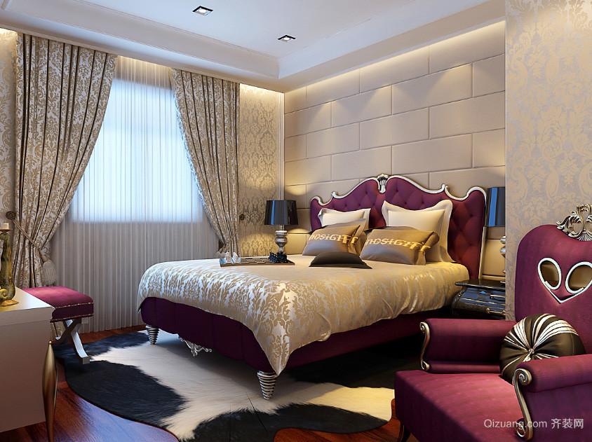 欧式皇家奢华卧室装修效果图