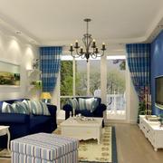 120平三居室地中海风情客厅装修效果图