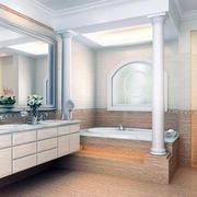 60平米小户型欧式卫生间装修效果图实例