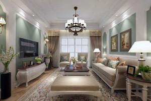 欧式混搭时尚客厅装修效果图案例示范