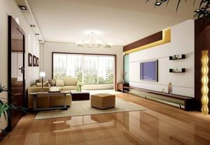 2016年110平简约精致客厅电视背景墙装修效果图