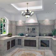 别墅型唯美简欧厨房装修效果图实例