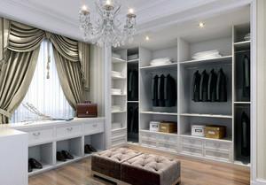 欧式大户型室内唯美的衣柜装修效果图