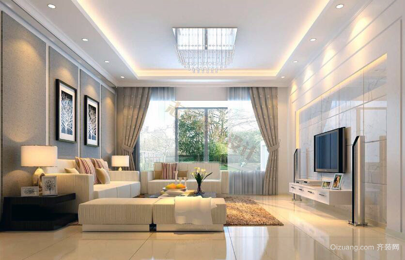 欧式风格大户型室内吊顶装修效果图