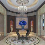 奢华典雅的别墅型玄关装修效果图欣赏