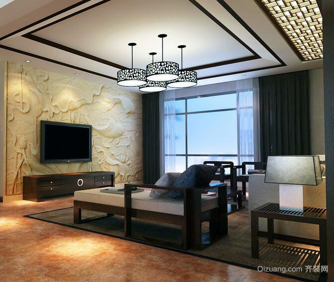 2016时尚完美的现代中式客厅装修效果图