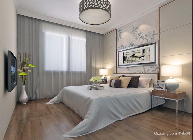 2016别墅型现代简约卧室装修效果图
