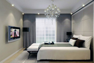 80平米唯美的欧式卧室软包背景墙装修效果图