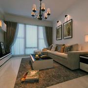现代轻快的大户型室内窗帘装修效果图