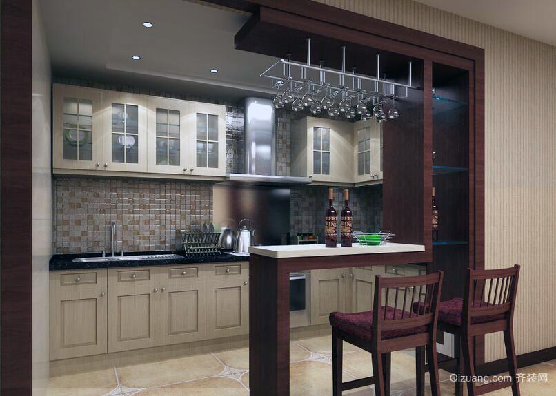 现代都市小户型室内吧台装修效果图欣赏