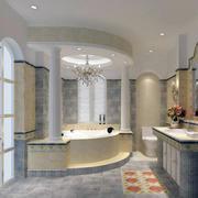自建别墅欧式风格浴室装修效果图实例