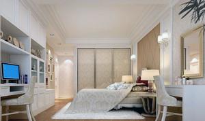 别墅欧式风格卧室床头背景墙装修效果图欣赏
