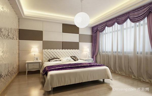 100平米别墅欧式房屋卧室背景墙装修效果图