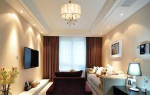 经典案例精致客厅吊灯背景墙装修效果图例图