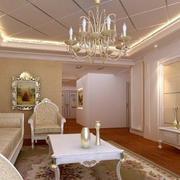时尚客厅吊灯装修图