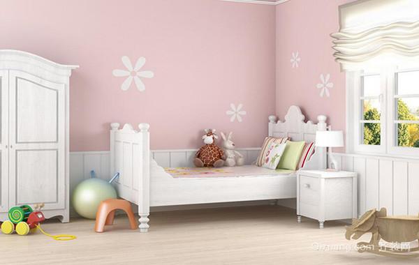 现代轻快地大户型儿童卧室吊顶背景墙装修效果图