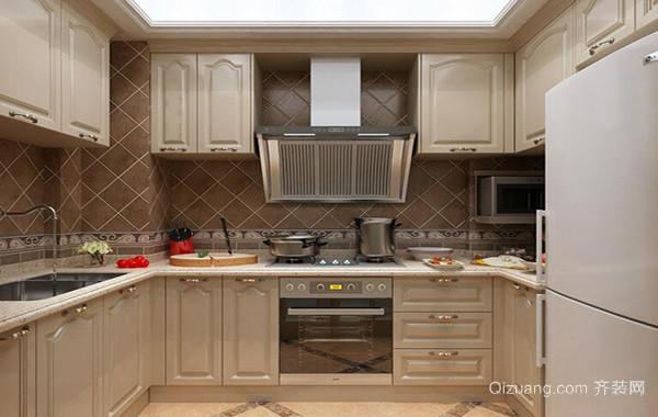 现代欧式别墅型厨房吊顶装修设计效果图